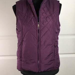 Izod Purple Puffer Vest
